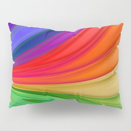 Abstract Rainbow Background Pillow Sham