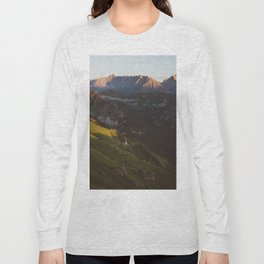 Sunset valley - Landscape and Nature Photography Long Sleeve T-shirt