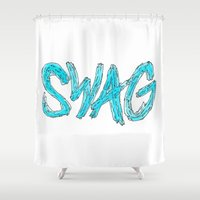 swag Shower Curtains featuring Swag by Creo