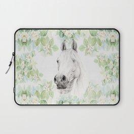 Horse in the Mystery Garden Laptop Sleeve