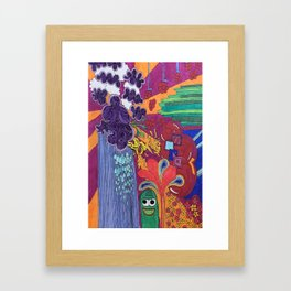 Sea of Creatures Framed Art Print