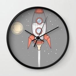Bottle Rocket Wall Clock