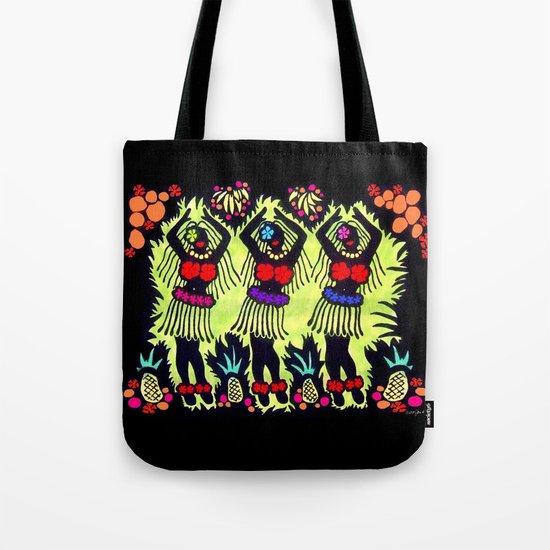 Hula Dancers Tote Bag