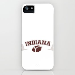 Just a Baller from Indiana Football Player iPhone Case