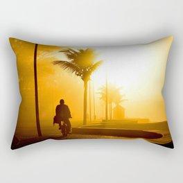 Bike ride at sunrise Rectangular Pillow