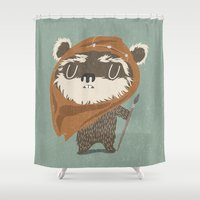 ewok Shower Curtains featuring Wicket W. Warrick by Rod Perich