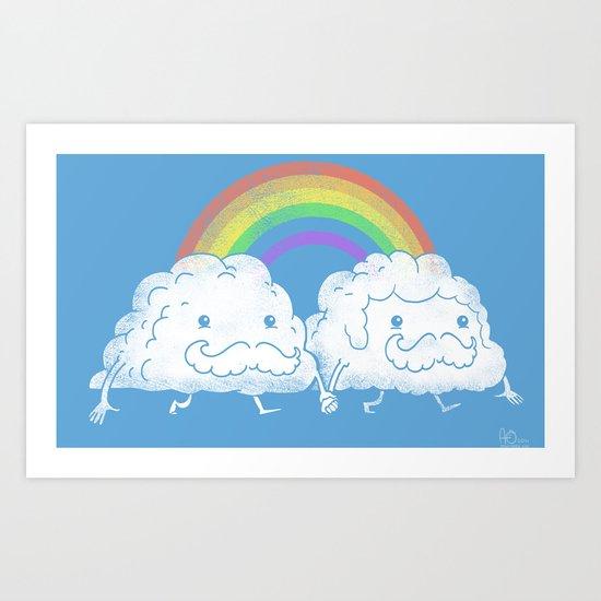 Proud Clouds Art Print