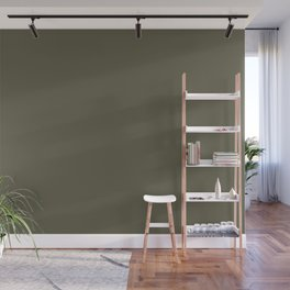 Dunn and Edwards 2019 Curated Colors Olive Court (Dark Muted Green) DEA174 Solid Color Wall Mural