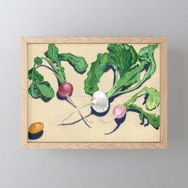 Easter Egg Radishes in Gouache Framed Mini Art Print