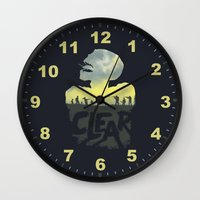 clear Wall Clocks featuring CLEAR by Kidney Theft