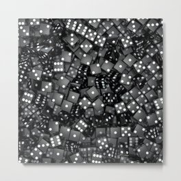 Black dice Metal Print