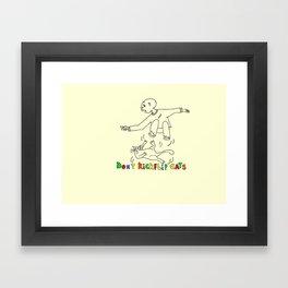 Don't kickflip Cats Framed Art Print