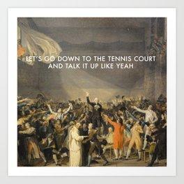 Tennis Court Oath Art Print