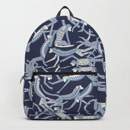 monkey blue Backpack