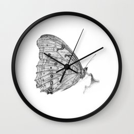 Pale Butterfly Wall Clock