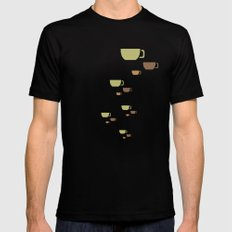 CUP PATTERN Black Mens Fitted Tee MEDIUM
