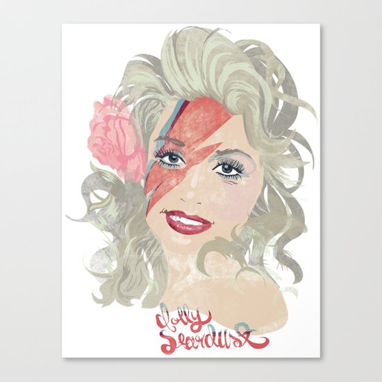 Dolly Stardust Canvas Print
