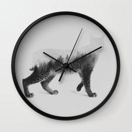 The Lynx (black & white version) Wall Clock