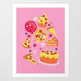 Pizza Party Art Print