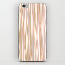 Vertical Lines in Blush and Gold iPhone Skin