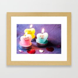 Valentines Candles Photography Print Framed Art Print