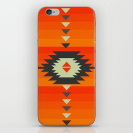 Southwestern in orange and red iPhone Skin