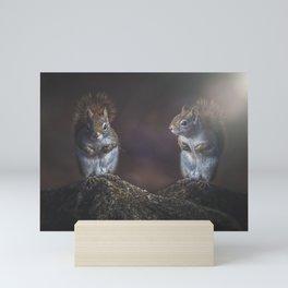 Forest Twins Mini Art Print