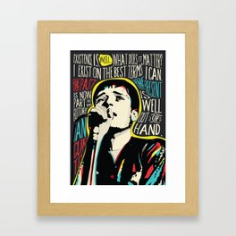 Ian Curtis Pop Art Quote / Joy Division Framed Art Print