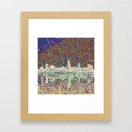 cleveland city skyline Framed Art Print