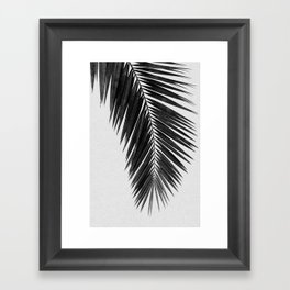 Palm Leaf Black & White I Framed Art Print