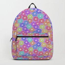 Floral Kaleidoscope pattern Backpack