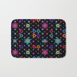 Small Flowers Pattern Bath Mat