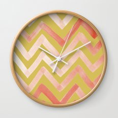 #02. Tierney (Chevrons, Gold variation for home accessories) Wall Clock