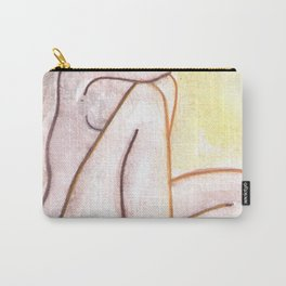 SADNESS FEMALE NUDE ART sexy erotic nudity impressionism artwork stickykitties watercolor naked original nudes curvy woman Carry-All Pouch