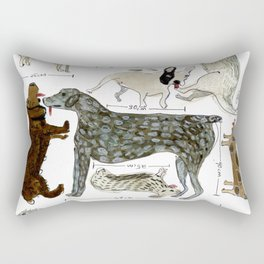 Dogs' Specificity Rectangular Pillow