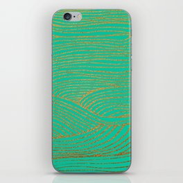 Wind Gold Turquoise iPhone Skin