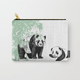 Panda print Carry-All Pouch