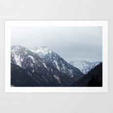 Mountains Austria Art Print