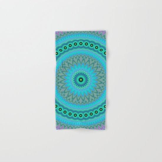 Boho flower mandala Hand & Bath Towel