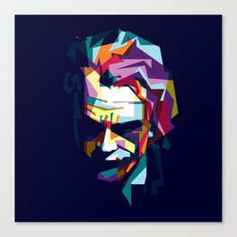 joker in colorful popart style Canvas Print