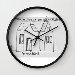 Southern California House 2 Wall Clock