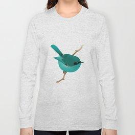 Little Blue Bird Long Sleeve T-shirt
