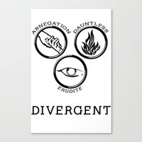 divergent Canvas Prints featuring Divergent (Black) by Lunil