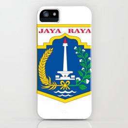 flag of jakarta or Djakarta iPhone Case