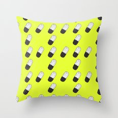 Take a neon pill Throw Pillow