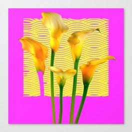 Fuchsia & Gold Calla Lily Abstract Canvas Print