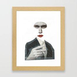 Mr Grey Framed Art Print