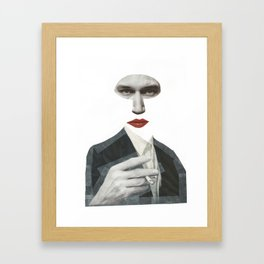 Mr Grey Framed Art Print