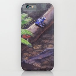 The Frog on the Log By Isabella Medici iPhone Case