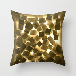 3D What Burns in Your Box? Throw Pillow
